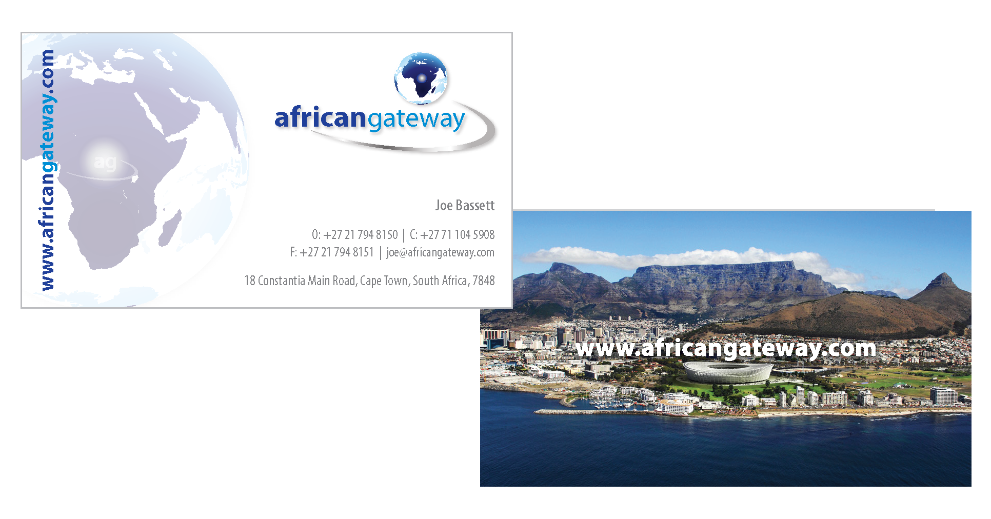 Business Card Design for African Gateway