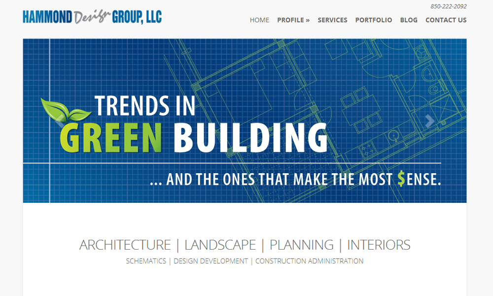 Website Design for Tallahassee Architect Hammond Design Group