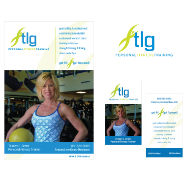 TLG Fitness Flyer and Business Card Design