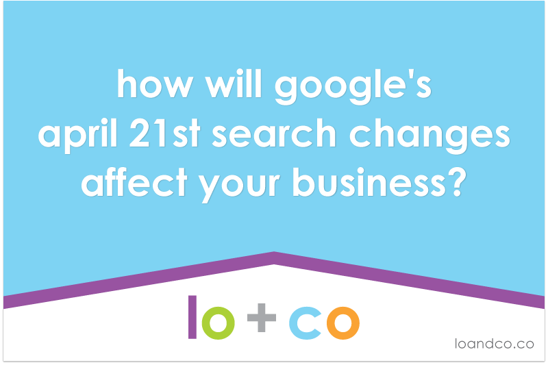 how will google's april 21st search changes affect your business?